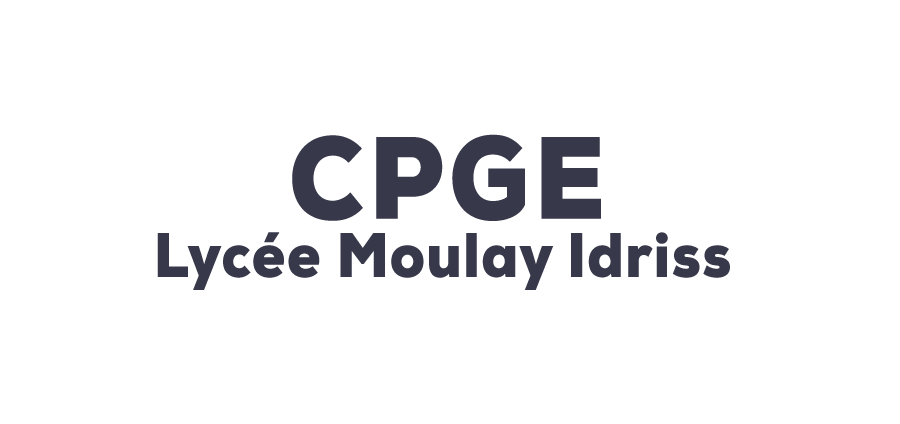 CPGE Moulay Idriss